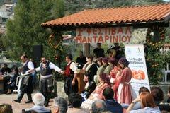 1st mandarinfestival i den Dierona byn, Cypern royaltyfria bilder