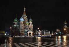 St. Manjericão Catedral em Moscovo. Rússia Imagens de Stock