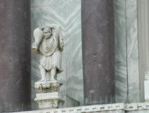 ST Marc basilika i Venedig Italien Arkivbilder