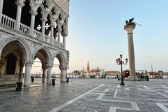 St. Marc squareand  Doge's Palace in Venice. Stock Photo