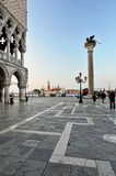 St. Marc squareand  Doge's Palace in Venice. Stock Images