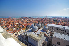 St. Marco cathedral, Roofs of Venice, Italy Stock Image