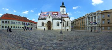 St.Marco church in Croatian capital Zagreb Stock Photography