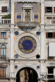 St. Marco clocktower. Clock tower at San Marco square in Venice stock image