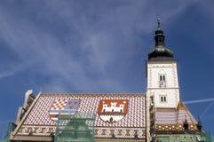 St. Marco kerk Zagreb Stock Foto