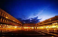 St. Marco square Venice. St. Marco square at dusk in Venice, the most beautiful town in the world. Italy stock images