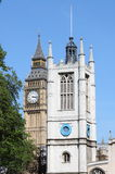 St. Margaret Church tower and Big Ben Stock Images