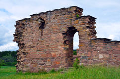 St. Margaret's Church ruins in Oslo, Norway. St. Margaret's Church (Norwegian: Margaretakirken) was a stone church built in the 13th century, placed in Maridalen Royalty Free Stock Photography