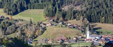 St Margarethen del villaggio in Reichenau Carinthia, Austria fotografia stock libera da diritti