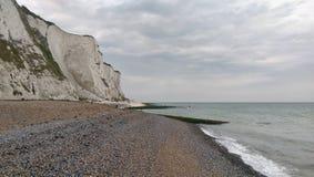 St Margarets bay. St Margaret's bay - white cliffs, Dover, Kent stock image