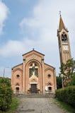 St. Maria Assunta kerk. Gropparello. Emilia-Rome stock afbeeldingen