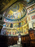 St Maria Basilica in Trastevere, Rome Royalty Free Stock Images