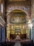 St Maria Basilica in Trastevere, Rome Royalty Free Stock Photo