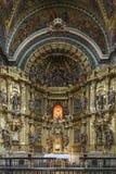 St Maria Church i Los Arcos, Navarre spain Royaltyfri Fotografi