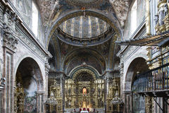 St. Maria Church in Los Arcos, Navarre. Spain. Royalty Free Stock Photos