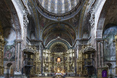 St. Maria Church in Los Arcos, Navarre. Spain. Royalty Free Stock Photo