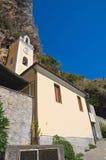 St Maria della Grotta Sanctuary. Praia una giumenta. La Calabria. L'Italia. Immagini Stock Libere da Diritti