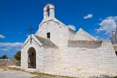 St. Maria Di Barsento kościół. Noci. Puglia. Włochy. Fotografia Royalty Free