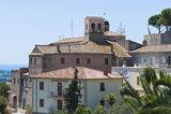 St. Maria di Valverde Church. Tarquinia. Lazio. Italy. Royalty Free Stock Photo