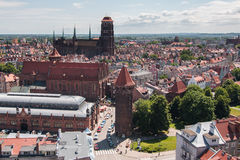 St Maria kerk, de oude stad van Gdansk, Polen Stock Afbeeldingen