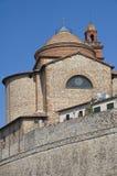 St. Maria Maddalena Church. Castiglione del Lago. Stock Afbeeldingen