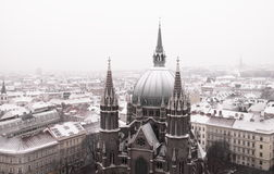 St. Maria's Cathedral coved by snow Royalty Free Stock Photos