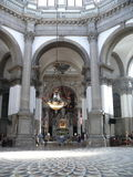 St Maria of Salute Basilica. Nice historic interier in Venice, Italy Royalty Free Stock Image