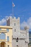 St Maria y palacio del reloj Towers.Prince de Mónaco Fotos de archivo libres de regalías