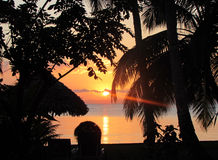 St Marie 2 di Ile di tramonto Immagini Stock Libere da Diritti