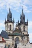 St. Marie Kathedraal in Praag Stock Afbeelding