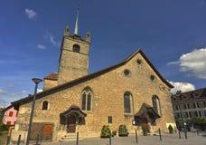 St Marie Madeleine della chiesa dalla città di Avenches Fotografia Stock Libera da Diritti