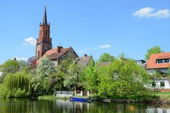 St. Marien Andreas Church of Ratheow in springtime Germany Stock Photos