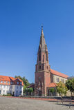 St. Marien church on the market square in Quakenbruck Stock Photography