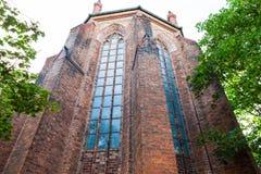 St Marienkirche, i stadens centrum berlin, Tyskland royaltyfri fotografi