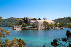 St. Marija Monastery In National Park Mljet Royalty Free Stock Photo