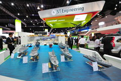 ST Marine showcasing its fleet of new generation offshore, fearless and littoral mission vessels at Singapore Airshow Stock Image