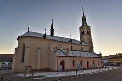 The St. Markéta Church. Kašperské Hory - Czech republic - EU stock images