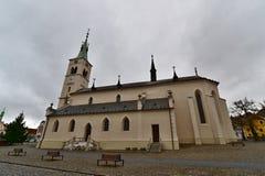 The St. Markéta Church. Kašperské Hory - Czech republic - EU royalty free stock image