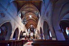 The St. Markéta Church. Kašperské Hory - Czech republic - EU. Inner view stock photography