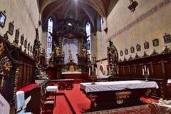 The St. Markéta Church. Kašperské Hory - Czech republic - EU. Inner view royalty free stock photo