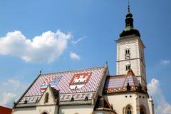 ST Mark& x27 εκκλησία του s, Ζάγκρεμπ Στοκ φωτογραφία με δικαίωμα ελεύθερης χρήσης