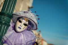 Маска масленицы в Венеции Стоковое Изображение