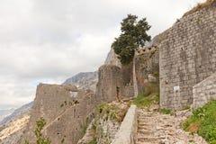 St Mark bastion of St John castle in Kotor, Montenegro Stock Images