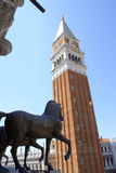 St Mark Campanile and Horses Stock Photography