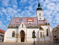 St Mark Church en la ciudad superior en Zagreb, Croacia Fotografía de archivo