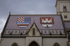 St Mark Church, Zagreb stock foto