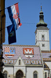 St. Mark Church, Zagreb 10 Stockfoto