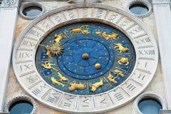 St.Mark Clocktower à Venise, Italie Image libre de droits