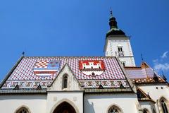 St Mark et x27 ; église de s, Zagreb Image stock