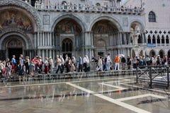 St. Mark kwadrata powodzie zdjęcie royalty free